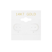 "100 Plastic Earring Hanging Card 1.5""x1.5"" White 14KT GOLD"