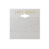 "100 Plastic Earring Hanging Card 2""x2"" Grey 14KT GOLD"