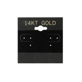 "100 Plastic Earring Hanging Card 2""x2"" Black 14KT GOLD"