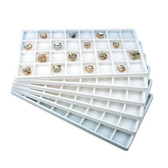 Flocked Tray Liner 32-Compartment  Insert White