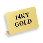 "Metal Showcase Sign ""14KT Gold"""