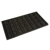Flocked Tray Liner 32-Compartment  Insert Black