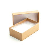 "100 Earring Pin Boxes 2 3/4"" x 1 3/4"" x 1"" Kraft"