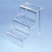 "Acrylic Step Riser Stair Display 6""x9""x9""H Clear"