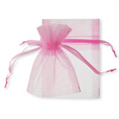 """100 Organza Jewelry Bag Gift Pouch Pink 2.75x3.5"""""""