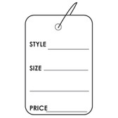 "100 Paper Price Label Tag 1 7/8"" Strung-Printed"