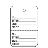 "1000 Paper Price Label Tag 1 7/8"" Unstrung-Printed"