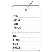 "100 Paper Price Label Tag 2 7/8"" Strung-Printed"