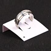 100 Plastic Ring Card Insert White