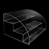 Acrylic 3-Tier Arched Cosmetic Display Stand