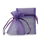 "100 Organza Jewelry Bag Gift Pouch Purple 4X6"""