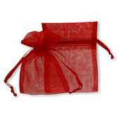 """100 Organza Jewelry Bag Gift Pouch Red 4X6"""""""