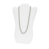 """Necklace Display Easel Board 14""""H White Leather"""