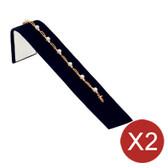 "2 Bracelet Chain Watch Display Ramp Black Velvet 8""L"
