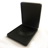 Large Round Corner Leather Necklace Box Black