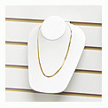 Slatwall Neckform Necklace Display White Leather