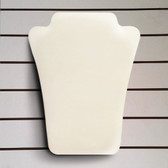 "Slatwall Neckform Board Necklace Display White Leather 8""H"