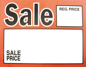 "50 Large Paper Price Sign ""Sale w/price"" 5.5x7"""
