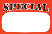 "50 Large Paper Price Sign ""SPECIAL"" 5.5x7"""