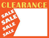 "50 Large Paper Price Sign ""CLEARANCE"" 5.5x7"""