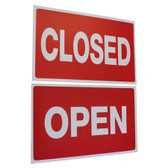 "Large Plastic Sign ""OPEN"" ""CLOSED"" Two Sided 11x7"""
