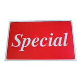 "Large Plastic Sign ""SPECIAL"" 11x7"""