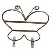 Earring Display Metal Butterfly 2-Tier Rack Antiqued Copper
