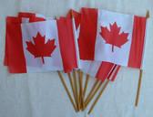 10 Canada Hand Flag 4X6 Inch