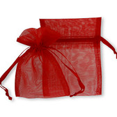 """100 Organza Jewelry Bag Gift Pouch Red 5X7"""""""