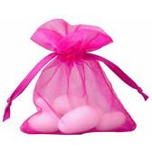 "100 Organza Jewelry Bag Gift Pouch Fuchsia 4X6"""