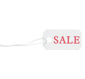 100 Pre-Printed Paper String Tags SALE