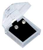 12 Crystal Style Clear Jewelry Gift Box Earrings