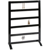 Large Earring Display Rack Metal Black