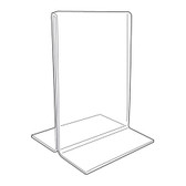 Acrylic Sign Display Holder Upright 5.5x7""