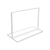 Acrylic Sign Display Holder Horizontal 5.5x3.5""