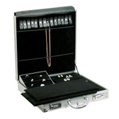 "Large Aluminum Jewelry Attache Case 15.5""H"