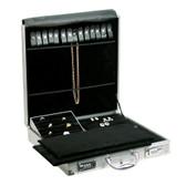 "Large Aluminum Jewelry Attache Case 15.5""H"