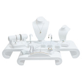 Display Set 17-Piece Faux Leather White