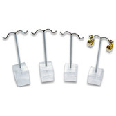 4-Pc Earring Tree Display Set Acrylic Base