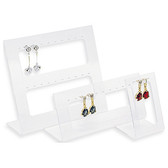 3-Pc Acrylic Earrings Ear Stud Display Set (17 Pairs)