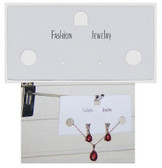 100 Combination Jewelry Card Plastic White