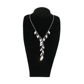 "Slim Neckform Necklace Display 12""H Velvet Black M"