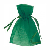 100 Organza Jewelry Bag Gift Pouch Green 4x6""