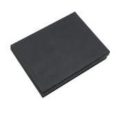 "100 Jewelry Box 6"" x 4"" x 1""H Foam Insert Black Linen"