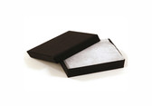 "100 Earring Pin Boxes 2"" x 1 1/2"" x 3/4"" (Shipping-Friendly) Black Linen"