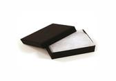 "100 Earring Pin Boxes 2"" x 1 1/2"" x 3/4"" (Shipping-Friendly) Black Linen"