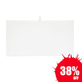 Economy Tray Liner Insert Pad White Faux Leather