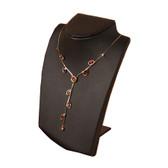 Retractable Neckform Necklace Display Black Leather