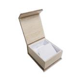 Deluxe Burlap Magnetic Earring Pendant Box