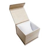 Deluxe Burlap Magnetic Watch Pillow Box
